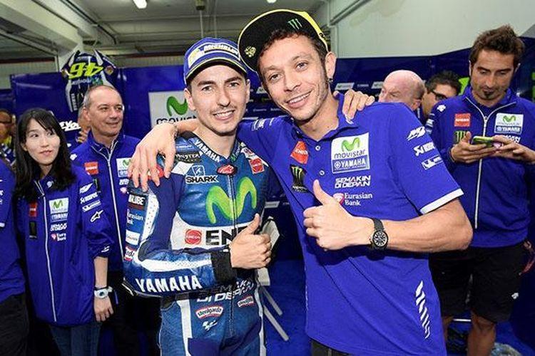 Lorenzo dan Rossi yang hubungannya sudah mulai membaik.