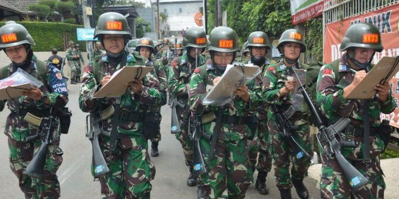 Foto ilustrasi: Kegiatan yang dilakukan siswa Sekolah Calon Perwira (Secapa) di Kota Bandung.