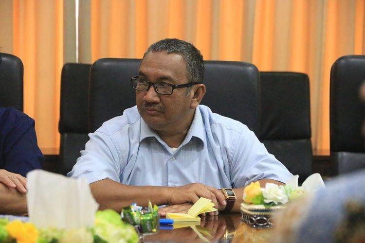 Kepala Biro Humas Pemprov Kaltim HM Syafranuddin saat mengikuti rapat koordinasi di Kantor Gubernur Kaltim, Samarinda, awal Maret 2020.