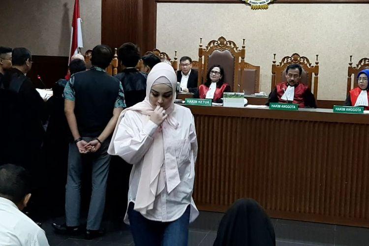 Jennifer Dunn memberi kesaksian di persidangan Wawan di Pengadilan Tipikor, kawasan Gunung Sahari, Jakarta Pusat, Kamis (12/3/2020).