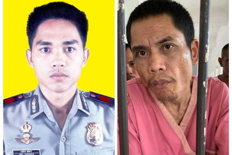 Foto Abrip Asep (kiri) dan foto diduga Abrip Asep yang jadi pasien RSJ di Aceh. Abrip Asep diduga hilang saat tsunami 2004.