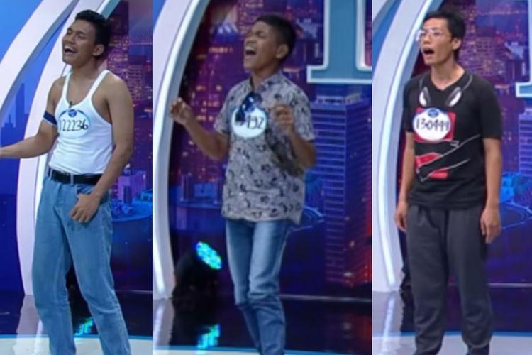 Tiga Kontestan Indonesian Idol X.