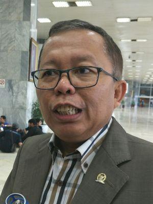 Anggota Pansus Angket KPK di Kompleks Parlemen, Senayan, Jakarta, Kamis (7/12/2017)