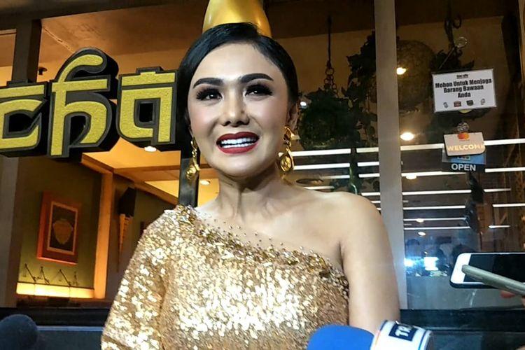 Yuni Sharah saat ditemui usai mengisi sebuah acara di Ciputra Mall, Jakarta Barat, Rabu (15/1/2020).