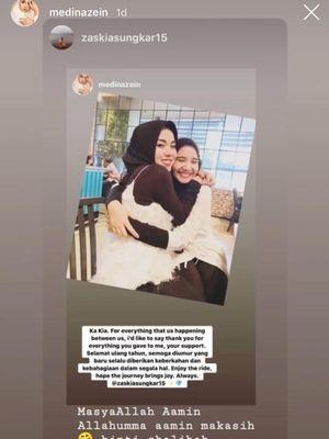 Tangkapan layar Instagram Story Medina Zein