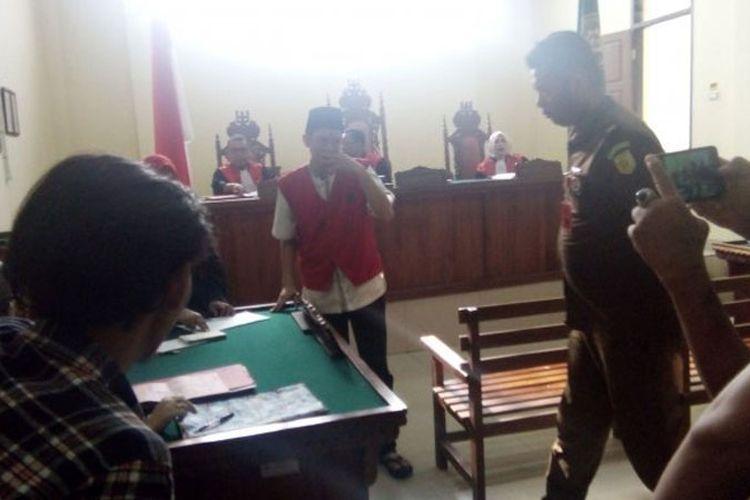Marsus, terdakwa penembak mati sekretaris lurah di Bandar Lampung.