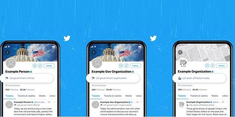 Twitter melabeli akun pejabat pemerintah dan perusahaan media yang terafiliasi dengan negara di sejumlah negara.