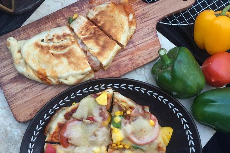 Pizza dan Calzone dari The Jayakarta Suites Bandung