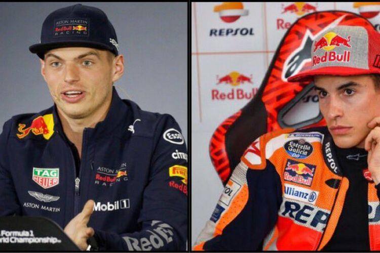 Max Verstappen dan Marc Marquez.