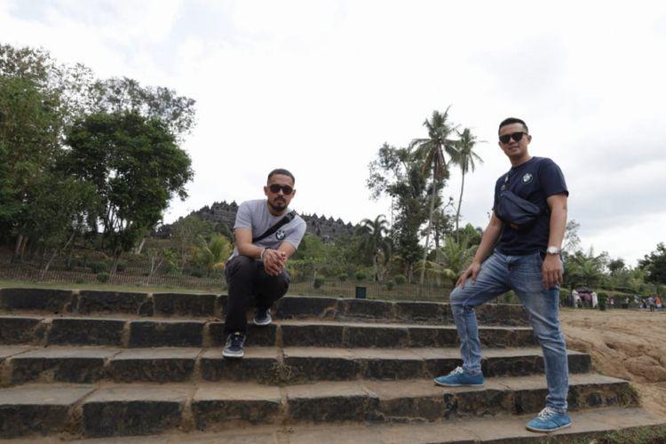 Fatsi Anzani dan Oky Andries saat Chief Barber Voyage 2018, Borobudur, Jawa Tengah.