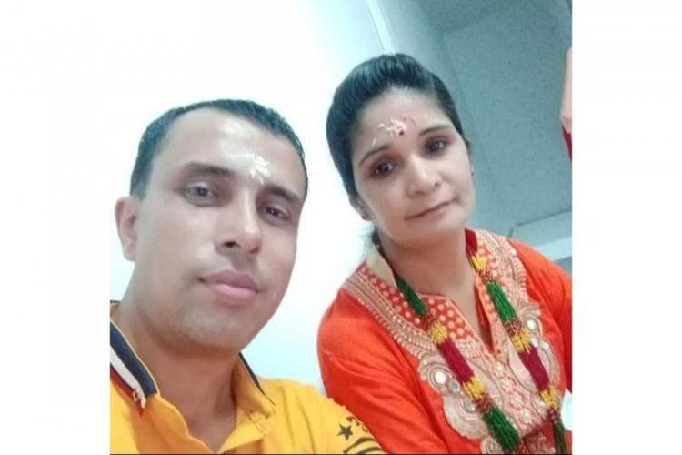 Pasangan suami istri (pasutri) Kishan Goutam (kiri) dan Harimaya Goutam (kanan) ditembak mati oleh pasukan keamanan Myanmar di kota Tamu pada Selasa (13/4/2021) pagi waktu setempat.