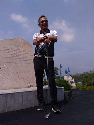 Iyus Rusdiana, Head of Operational Bandung Bandung Giri Gahana (BGG) yang 29 tahun mengelola lapangan golf, caddy, dan pemain golf.
