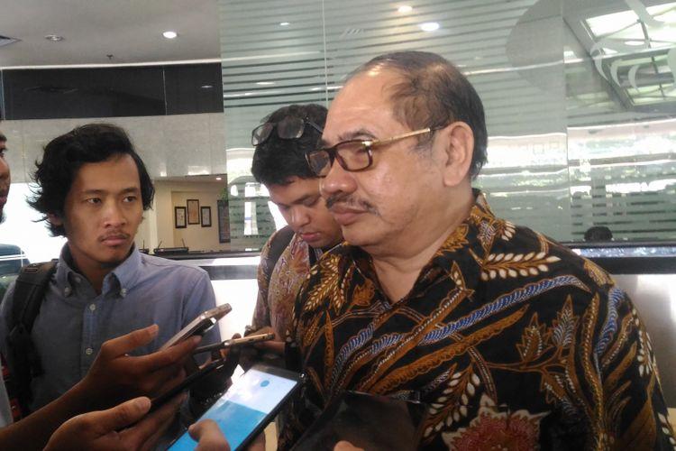 Ketua PPATK Kiagus Ahmad Badaruddin memaparkan ancaman dana kampanye Pemilu 2019 di Gedung PPATK , Jakarta, Selasa (18/12/2018).