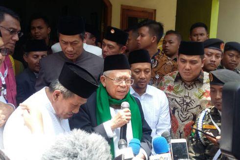 Kunjungi Pesantren, Ma'ruf Amin Mengaku Hanya Silaturahim