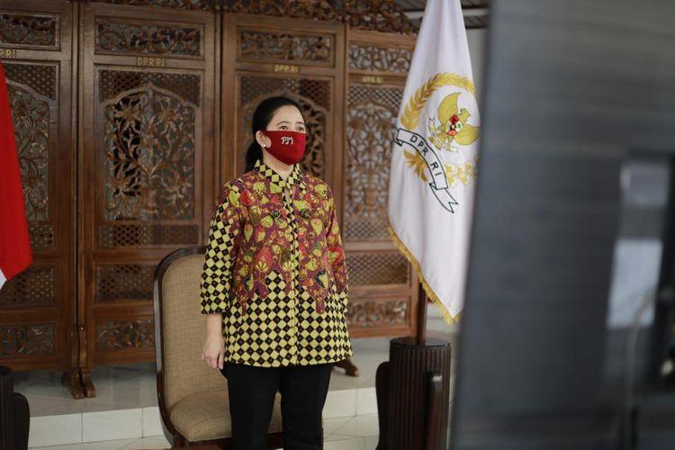 Ketua DPR Puan Maharani dalam peringatan Hari Anti Narkotika Internasional (HANI) 2020 secara virtual, Jumat (26/6/2020).