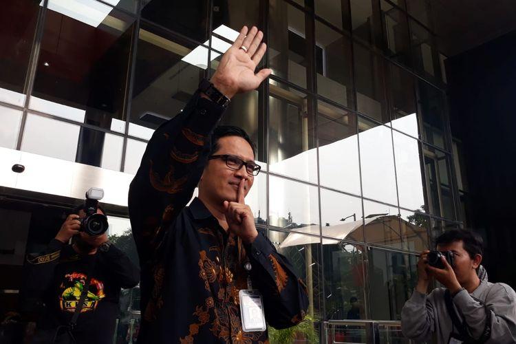 Kabiro Humas KPK Febri Diansyah di Gedung Merah Putih KPK, Jakarta, Kamis (26/12/2019).
