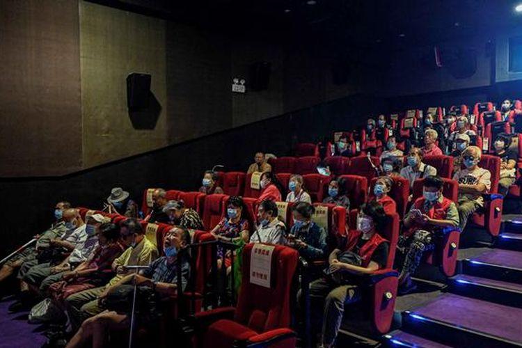 Sebuah bioskop di Beijing, China untuk penyandang tunanetra.