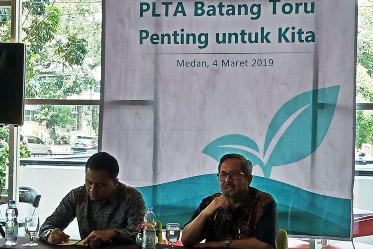 Vice President Communications and Social Affairs PT NSHE Firman Taufick mengapresiasi putusan hakim PTUN Medan yang menolak seluruh gugatan Walhi Sumut terhadap PLTA Batangtoru, Senin (4/3/2019)