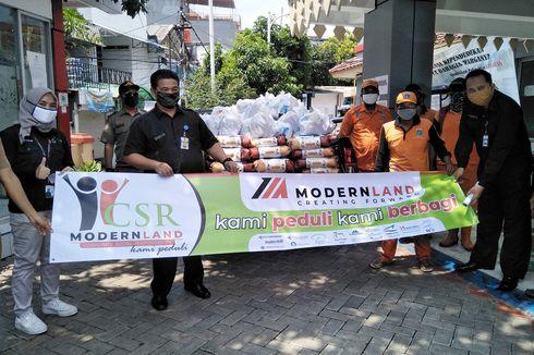 Modernland Salurkan Bantuan Sembako di Tiga Lokasi