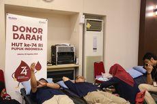 Peringati HUT RI, Karyawan Pupuk Indonesia Gelar Giat Donor Darah
