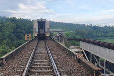 Jembatan di Brebes Putus Tergerus Longsor, PT KAI Berlakukan Jalur Tunggal