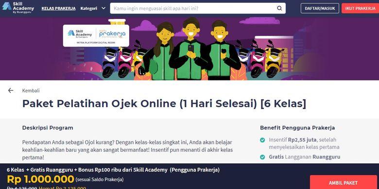 pelatihan kursus online ojol