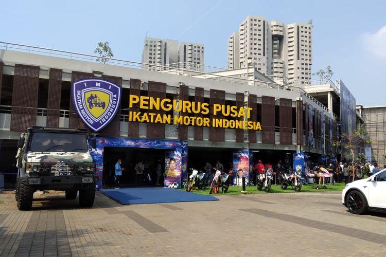 Kantor Pengurus Pusat Ikatan Motor Indonesia di Kawasan GBK, Senayan, Jakarta.