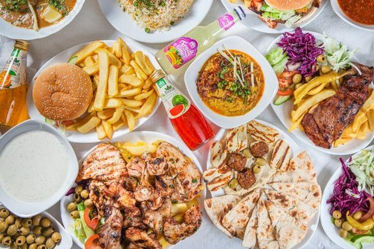 Ilustrasi makanan halal.