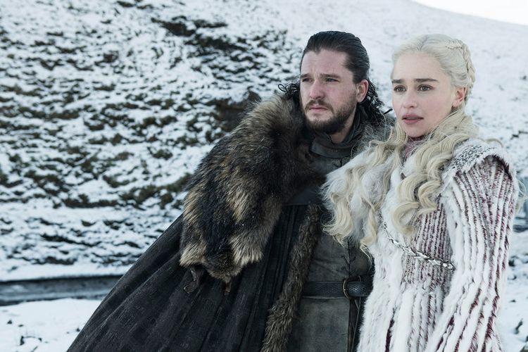 Salah satu cuplikan adegan dalam seri televisi Game of Thrones.
