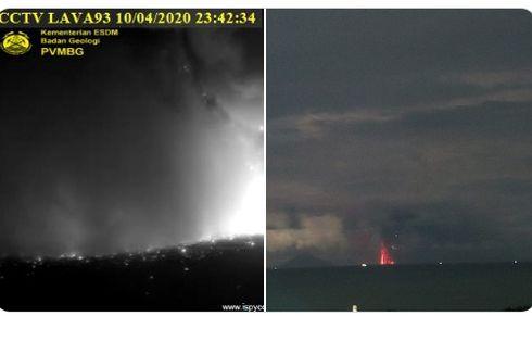 Gunung Anak Krakatau Meletus 2 Kali, Abu Tebal seperti Hujan di Pulau Sebesi
