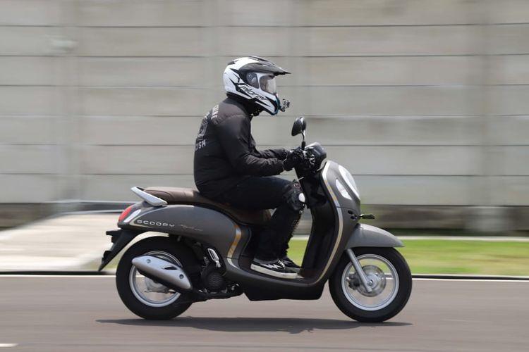 Jajal All New Honda Scoopy di  AHM Safety Riding and Training Center, Cikarang, Jawa Barat.