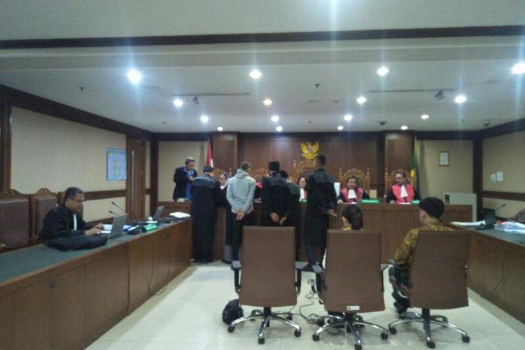 Sidang Kasus Dugaan Suap Dana Hibah KONI dengan Terdakwa Asisten Pribadi Mantan Menteri Pemuda dan Olahraga Imam Nahrawi di Pengadilan Negeri Jakarta Pusat, Kamis (5/3/2020)