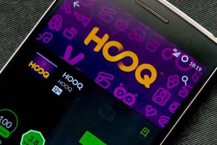 Aplikasi Hooq di Android.