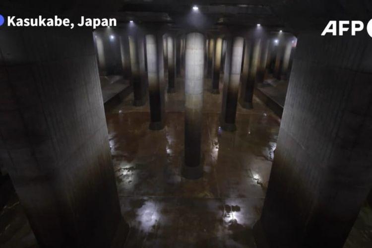 Bendungan air raksasa di bawah tanah bernama Parthenon di Tokyo Jepang