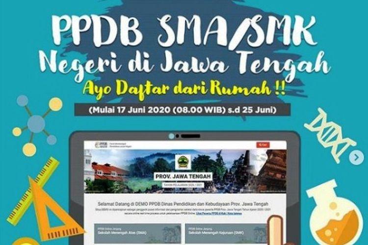 Jadwal PPDB SMA/SMK Negeri Jawa Tengah 2020.