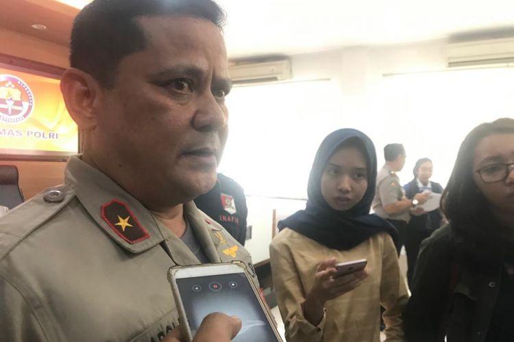 Brigjen Pol Napoleon Bonaparte saat menjabat Kepala Divisi Hubungan Internasional Polri di Gedung Humas Mabes Polri, Jakarta Selatan, Kamis (14/2/2019).
