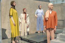 50 Ide Padu Padan Busana Hijab ala Ayudia dan Uniqlo