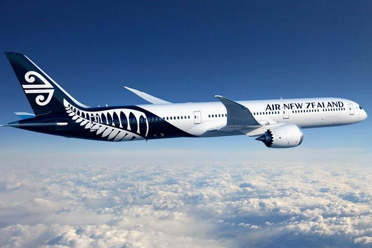 Ilustrasi pesawat Air New Zealand.