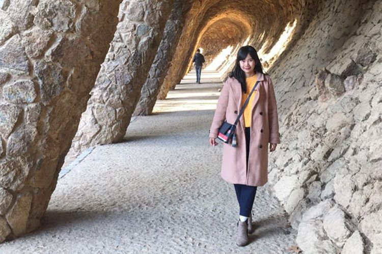 Park Guell, Barcelona, Spanyol.
