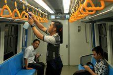 Antisipasi Virus Corona, Trainset dan Stasiun LRT Palembang Disemprot Disinfektan