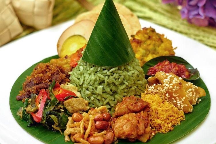 Nasi Hijau di Hotel Gran Mahakam.