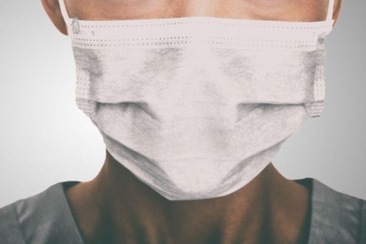 Ilustrasi pasien virus corona mengenakan masker untuk cegah penularan dan penyebaran Covid-19.