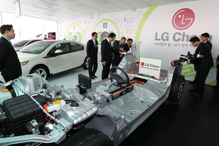 Ilustrasi baterai mobil listrik LG Chem