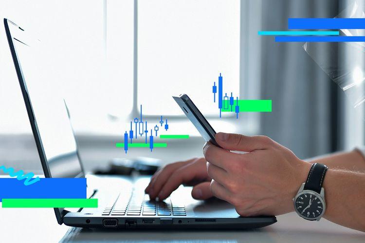 Ilustrasi aktivitas trading forex.