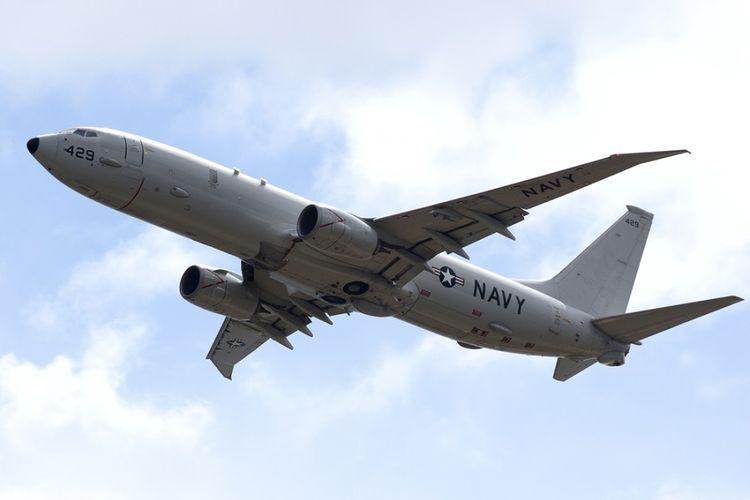 Pesawat penumpang Boeing P-8 Poseidon milik Angkatan Udara AS.