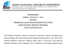 Catat, ANRI Buka 71 Formasi di CPNS 2019