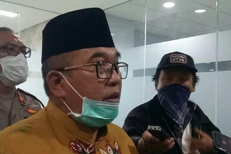 Bupati Sukoharjo Wardoyo Wijaya di Sukoharjo, Jawa Tengah, Senin (23/3/2020).