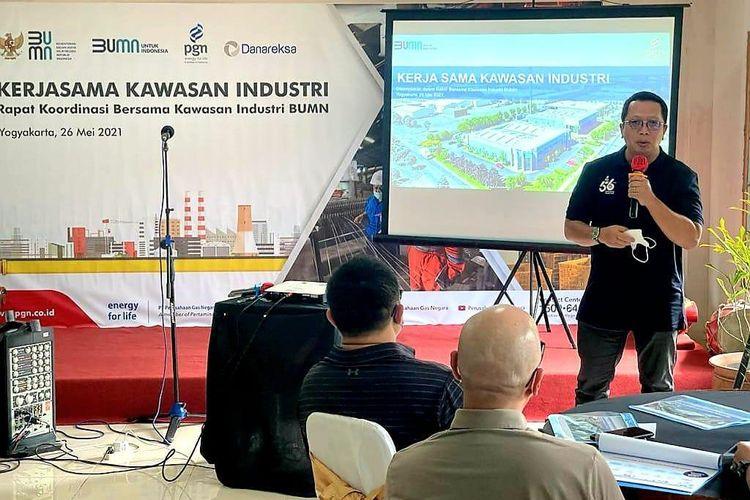 Direktur Utama (Dirut) PT Perusahaan Gas Negara Tbk (PGN) M. Haryo Yunianto dalam rakor bersama BUMN di Yogyakarta, Rabu (26/5/2021).