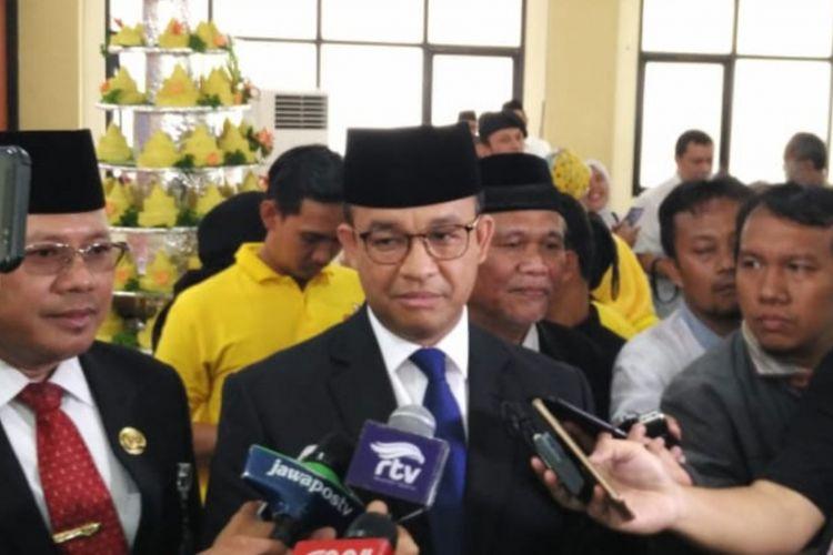 Gubernur DKI Jakarta Anies Baswedan di kawasan Pondok Kopi, Jakarta Timur, Kamis (3/1/2019).