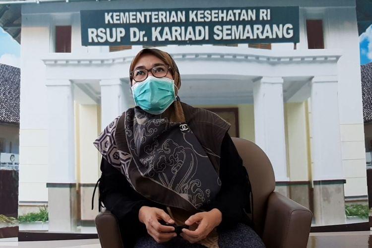 Dosen dan tim peneliti, Dr. Yetty Movieta Nency SPAK saat ditemui di RSUP Kariadi Semarang, Rabu (17/2/2021).